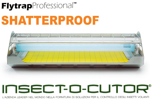 FLYTRAP PROFESSIONAL FTP40 tubi shatterproof Insect-O-Cutor