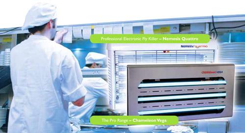 pestwest chameleon vega lampada elettroinsetticida professionale per industrie alimentali