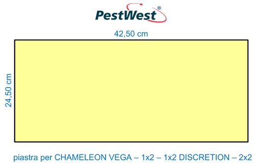 Piastra collante gialla PestWest per lampade CHAMELEON