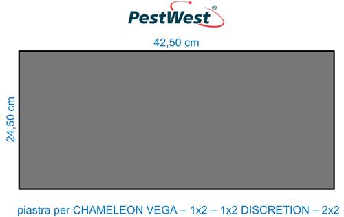 Piastra collante nera PestWest per lampade CHAMELEON