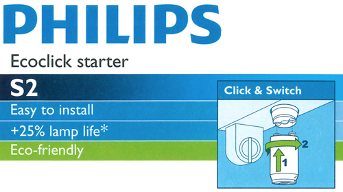 Starter per Neon Philips S2