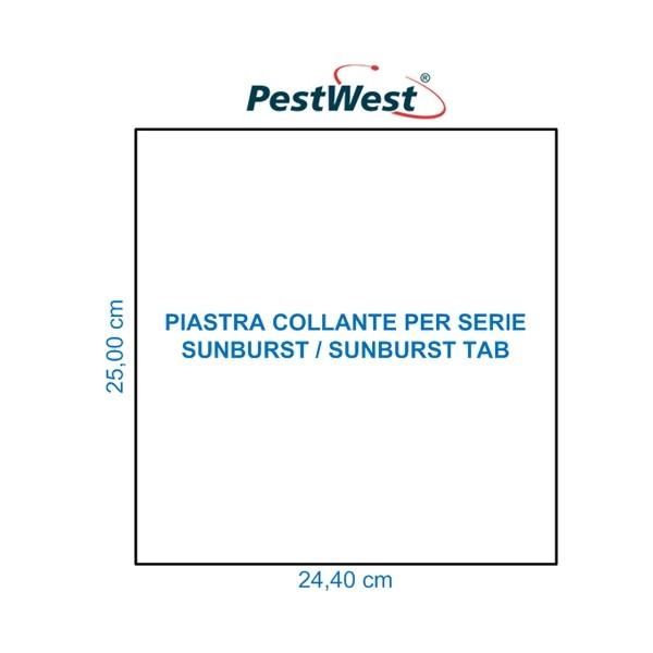 Piastra collante cartone PestWest per SUNBURST TAB