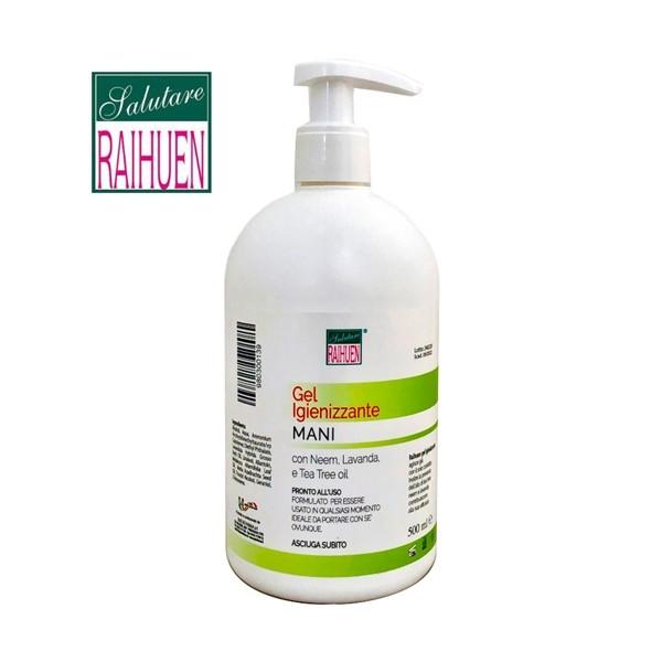 RAIHUEN GEL IGIENIZZANTE MANI 500 ml