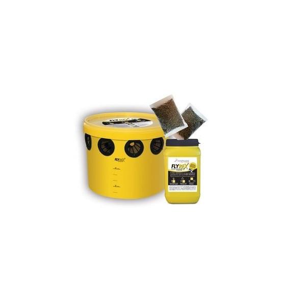 Trappola FLYREX 2 litri ecologica per la cattura delle mosche