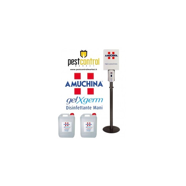 Piantana con dispenser automatico AMUCHINA Gel con 8 ricariche