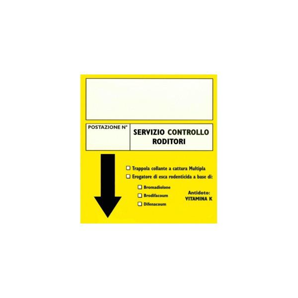 Cartellino monitoraggio postazione derattizzazione